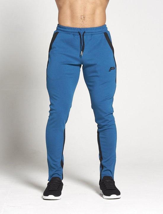 PURSUE FITNESS Men's Track Pants Pro-Fit Sport Joggers Bottoms Teal Blue - Activemen Clothing