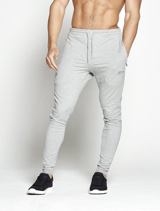 PURSUE FITNESS Men's Slim Track Pants Pro-Fit Tapered Joggers Bottoms Grey - Activemen Clothing