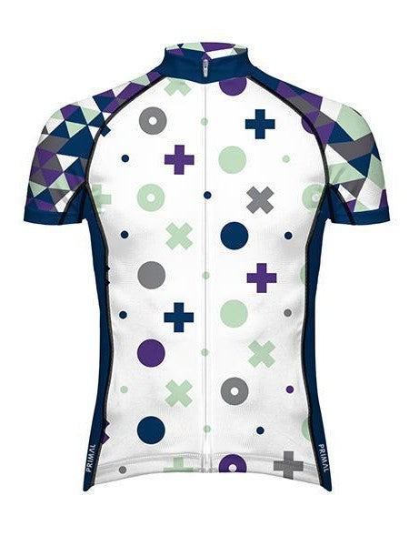 PRIMAL Shape Up Evo Men's Short Sleeve Cycling Jersey White - Activemen Clothing