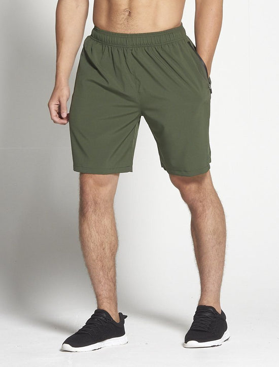 PURSUE FITNESS Gym Shorts Men's Cross Training Shorts Khaki - Activemen Clothing