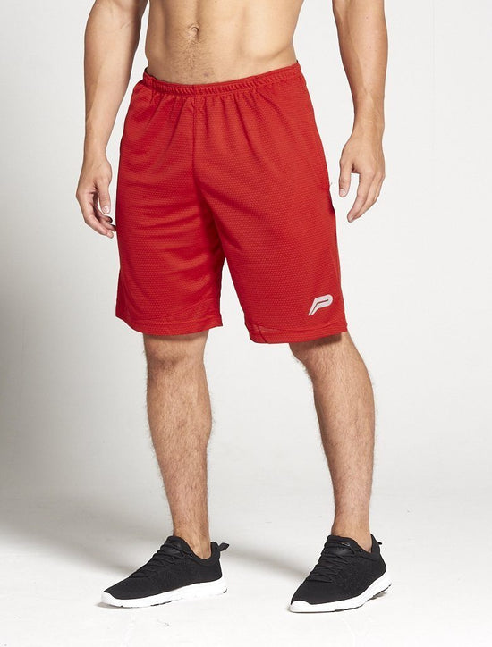 PURSUE FITNESS BreathEasy Agility Shorts Red - Activemen Clothing