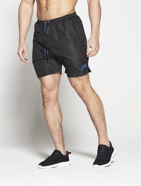 PURSUE FITNESS Elevate Shorts Men's Gym Shorts Black and Blue - Activemen Clothing