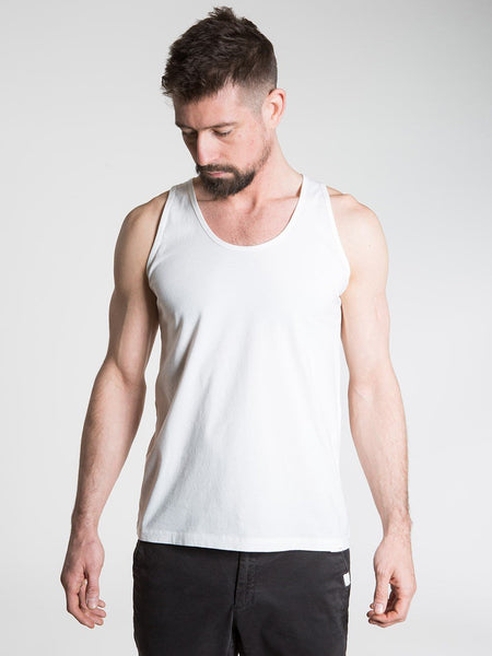 SO WE FLOW... soweflow... Sleeveless Top Men's Yoga Vest Tank Top White Natural