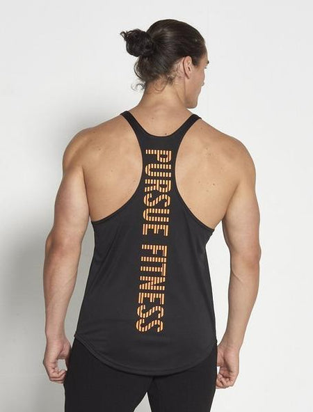 PURSUE FITNESS Essential Stringer Sleeveless Vest Black - Activemen Clothing