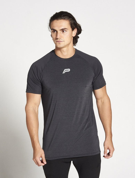 PURSUE FITNESS BreathEasy Short Sleeve Top Men's Tee T-Shirt Black - Activemen Clothing