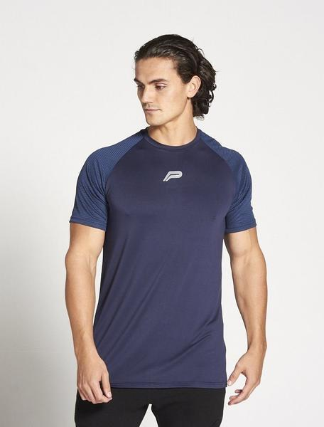 PURSUE FITNESS BreathEasy Short Sleeve Top Men's T-Shirt Tee Navy - Activemen Clothing