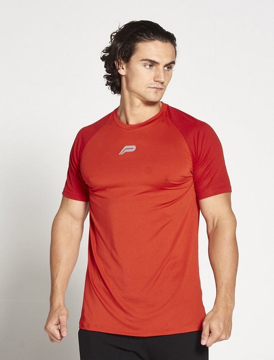 PURSUE FITNESS Red BreathEasy T-Shirt - Activemen Clothing