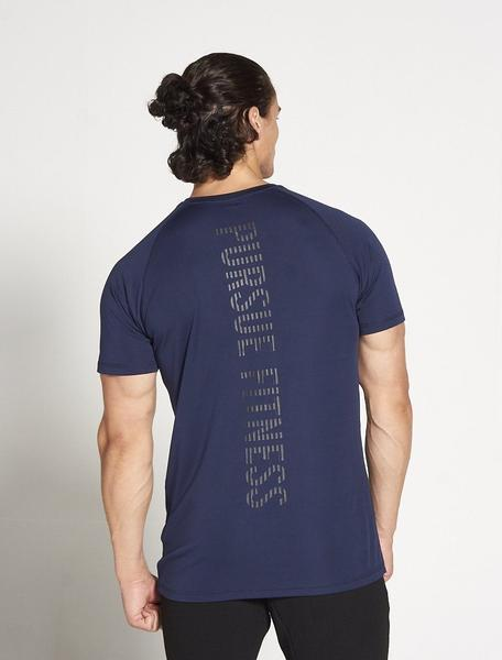 PURSUE FITNESS Essential Breatheasy Short Sleeve Top Men's Tee T-Shirt Navy - Activemen Clothing