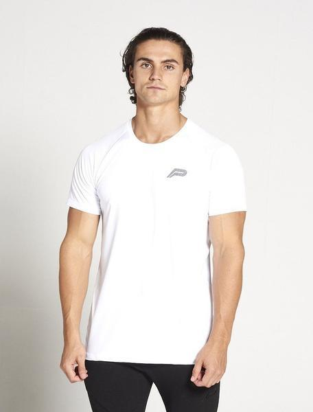 PURSUE FITNESS Essential Breatheasy Short Sleeve Top Men's Tee T-Shirt White - Activemen Clothing