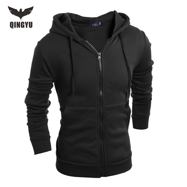 Villus Male Sweatshirts High Quality zipper Hooded