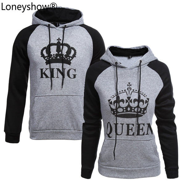 KING Queen Crown Print Unisex for Winter Couple