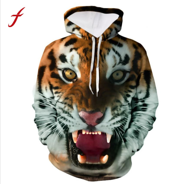 3D Hip Hop-Printed Clothing Sweatshirts Hoodies