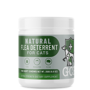 GCP All Natural Flea, Tick and Mosquito Deterrent for Cats - 100 Soft Chews