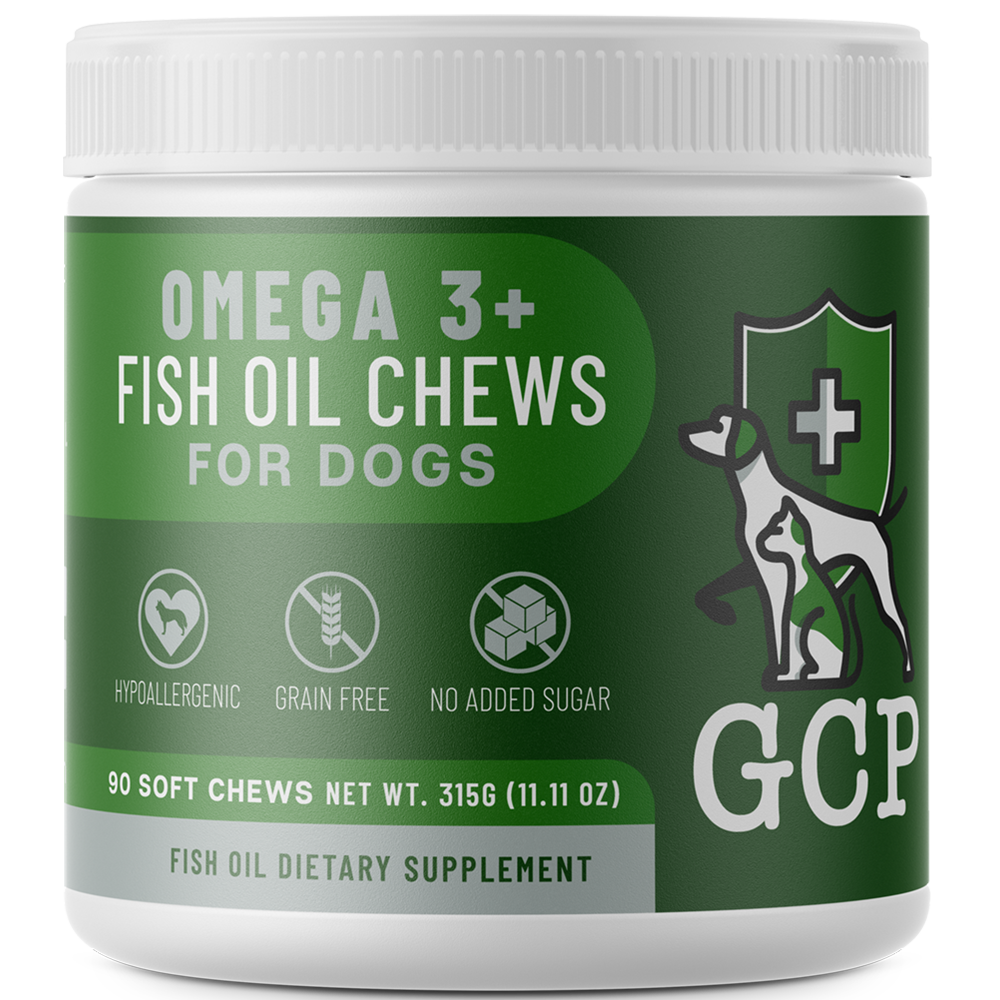 GCP Hypoallergenic Omega-3 Fish Oil Chews for Dogs - 90 Soft Chews