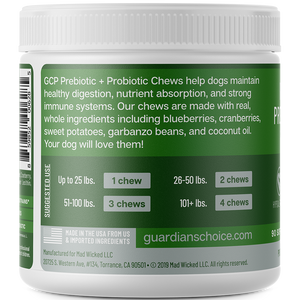 GCP Hypoallergenic Pre + Probiotic Chews for Dogs - 90 Soft Chews