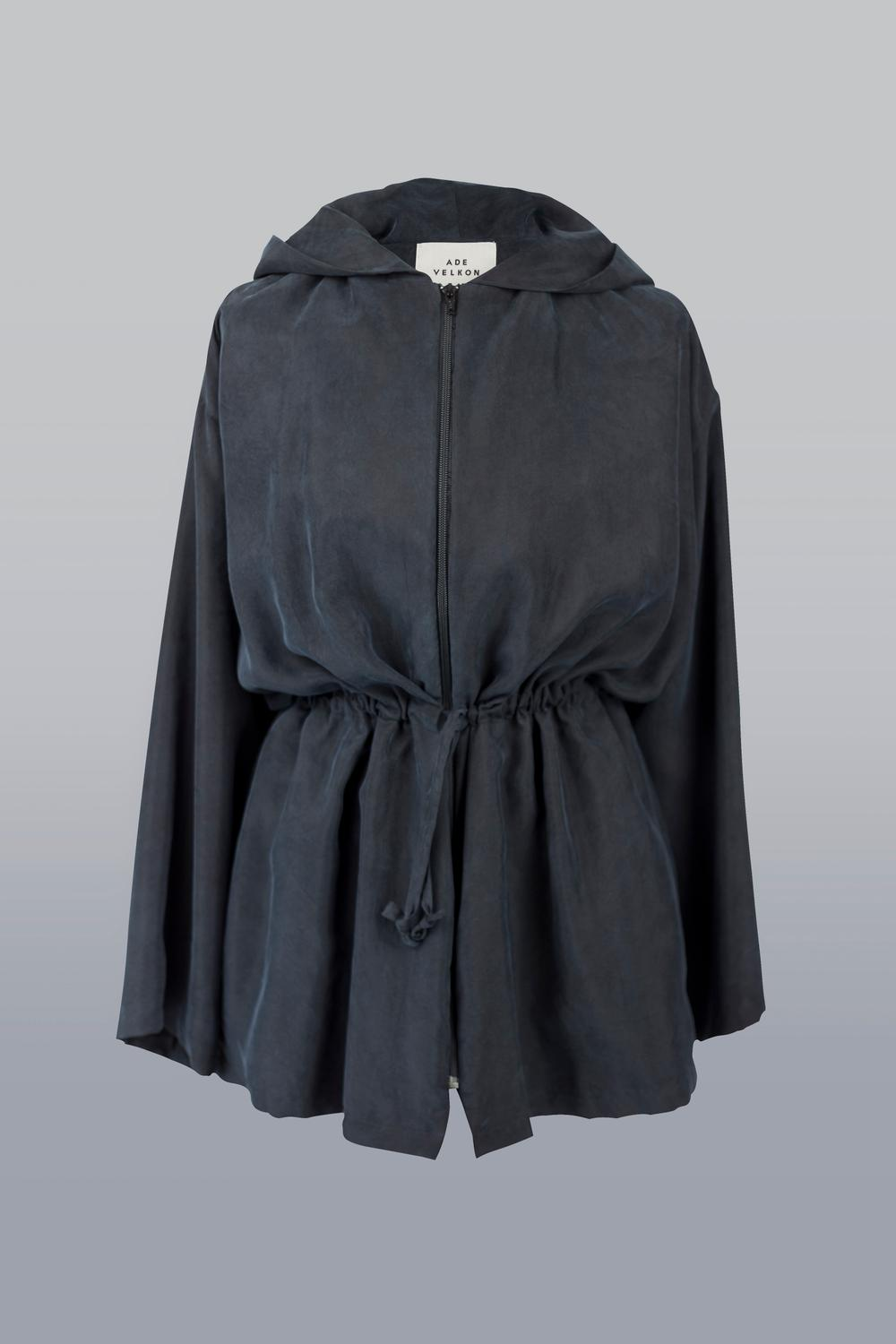 Hooded Cupro Jacket