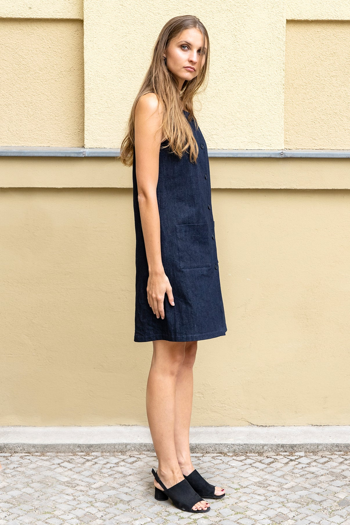 Jeans Button Dress