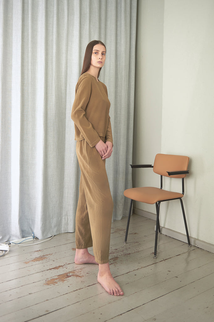 Crepe Silk Easy Long Sleeve - Maria Morgana