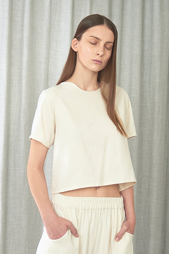 Raw Silk Crop Top - Maria Morgana