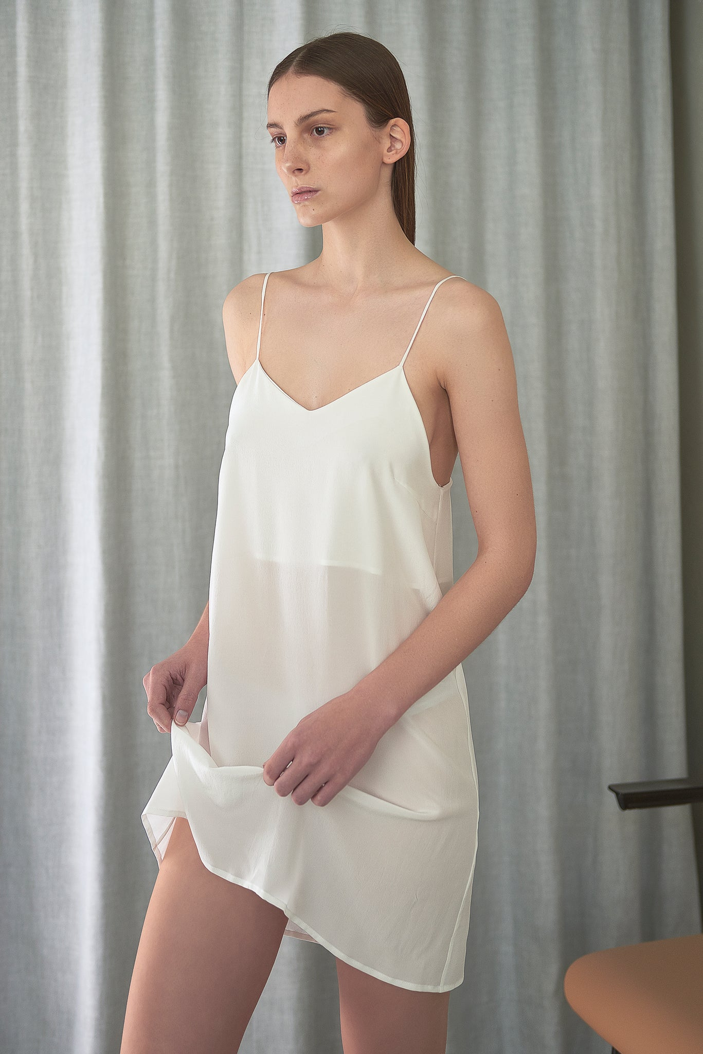 Crepe Silk Slip Dress - Maria Morgana