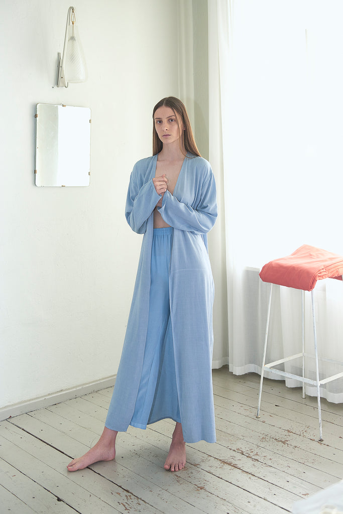 Viscose Long Robe - Maria Morgana