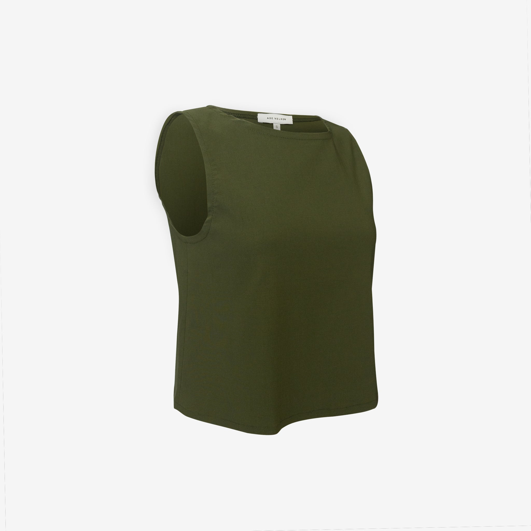 Crop Top - Moss Green