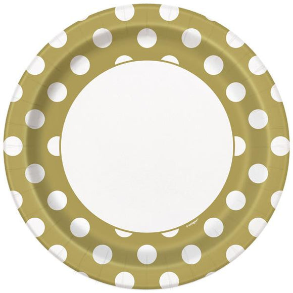 Gold Dot Plates - Large