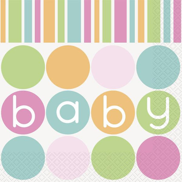 Baby Shower 'Pastels' Napkins