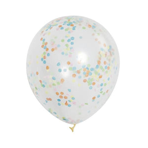 Clear / Multi Coloured Confetti Balloons