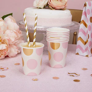 Pink 'Pattern Works' Paper Cups