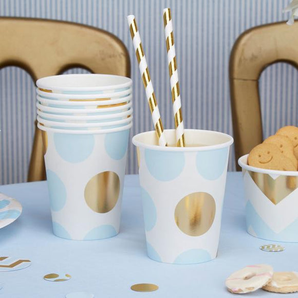 Blue 'Pattern Works' Paper Cups