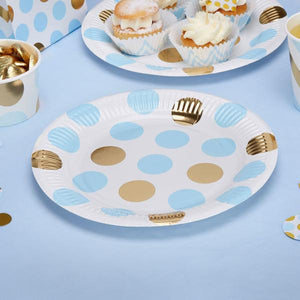 Blue 'Pattern Works' Paper Plates