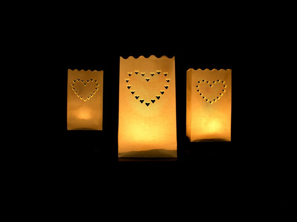 Candle Bag Lanterns (Heart Design)
