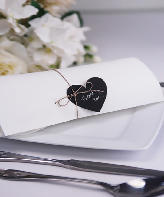 Black Rustic Paper Hearts
