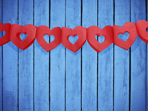 Red Hearts Tissue Garland