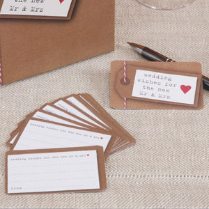 Rustic Just my Type Wishes Cards