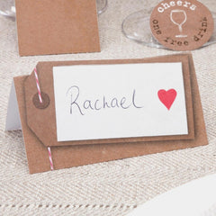 Rustic 'Just My Type' Place Cards