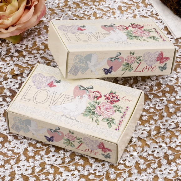 'With Love' Vintage Style Cake Boxes