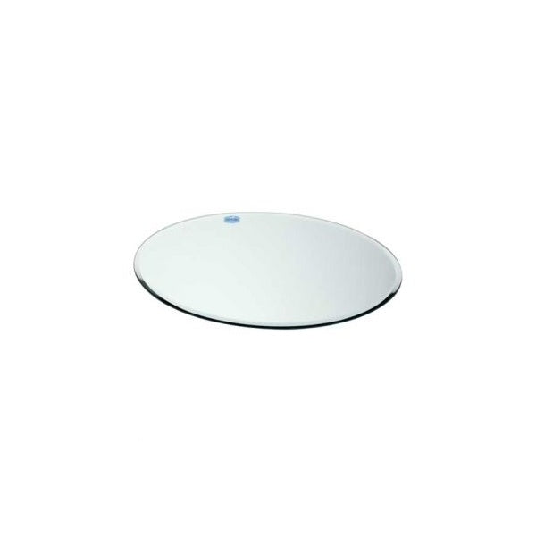 30cm Round Mirror Plate – White Wedding and Party