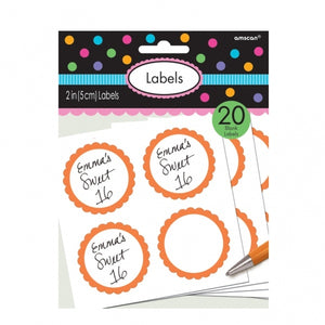 Candy Buffet Personalisable Labels (Orange)