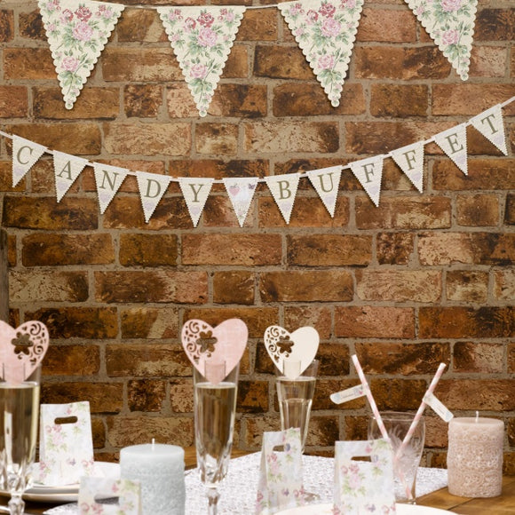 Candy Buffet 'With Love' Paper Bunting