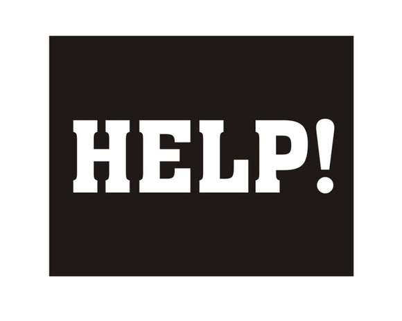 Novelty Shoe Sticker - 'HELP!'