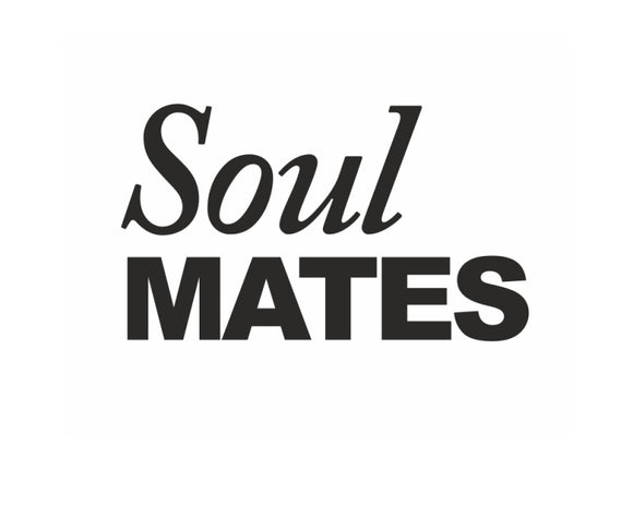 Novelty Shoe Stickers - 'Soul Mates'