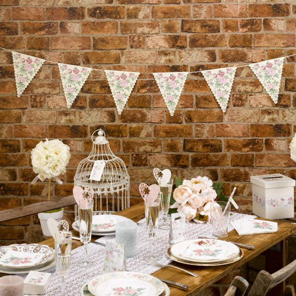 Wedding / Party Floral Bunting - 'With Love'