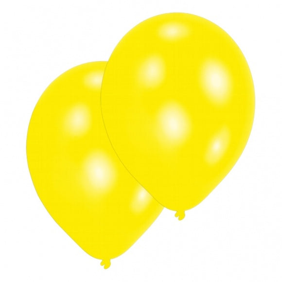 Latex Helium Quality Balloons - Yellow  (10 Per Pack)
