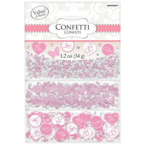 Pink 'I Do' Triple Pack Confetti