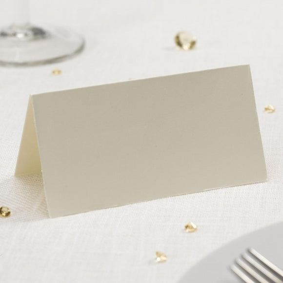 Place Cards - Plain Ivory (50 Pack)