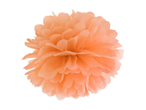 Light Orange Tissue Paper Pompom - 35cm