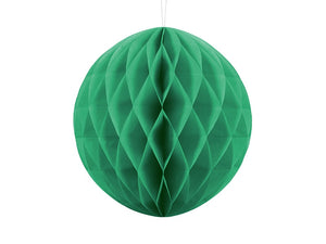 Honeycomb Ball Hanging Decoration - Emerald Green 30cm