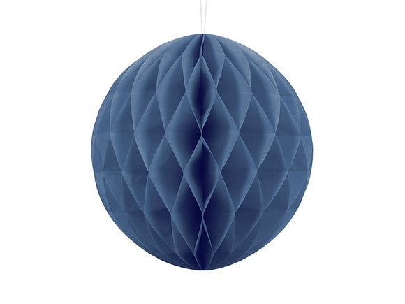 Honeycomb Ball Hanging Decoration - Navy Blue 30cm